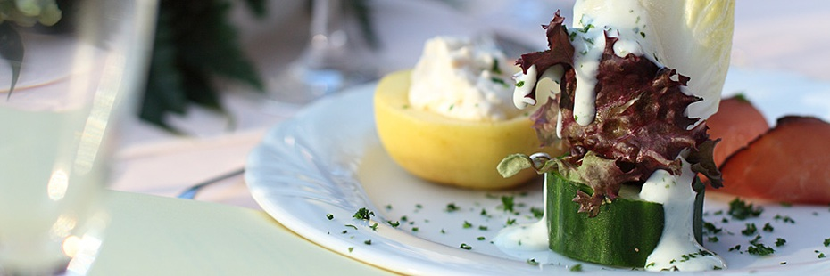 Salatteler im Landgasthof Schröder
